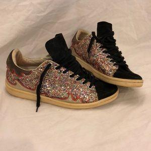 Isabel Marant Etoile glitter sneakers